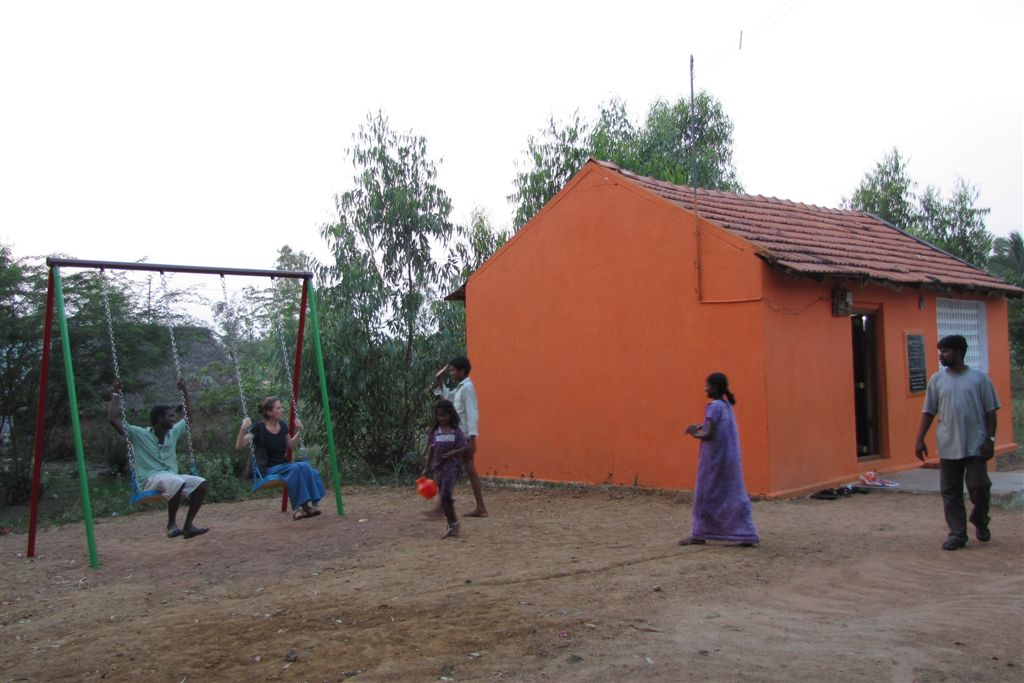 The Education Center with its playground