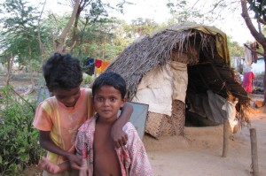 Irula children live in very poor condition