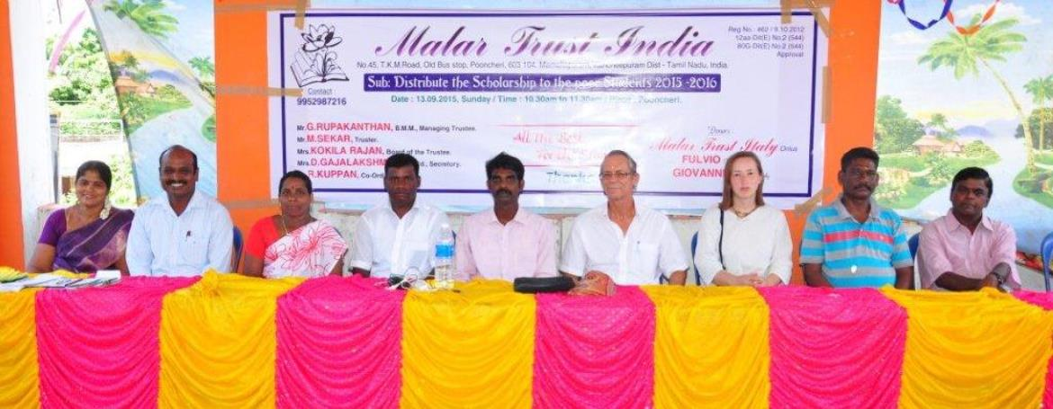 Official ceremony for the assignment of the 2015/2016 school year Malar Trust Scholarships.