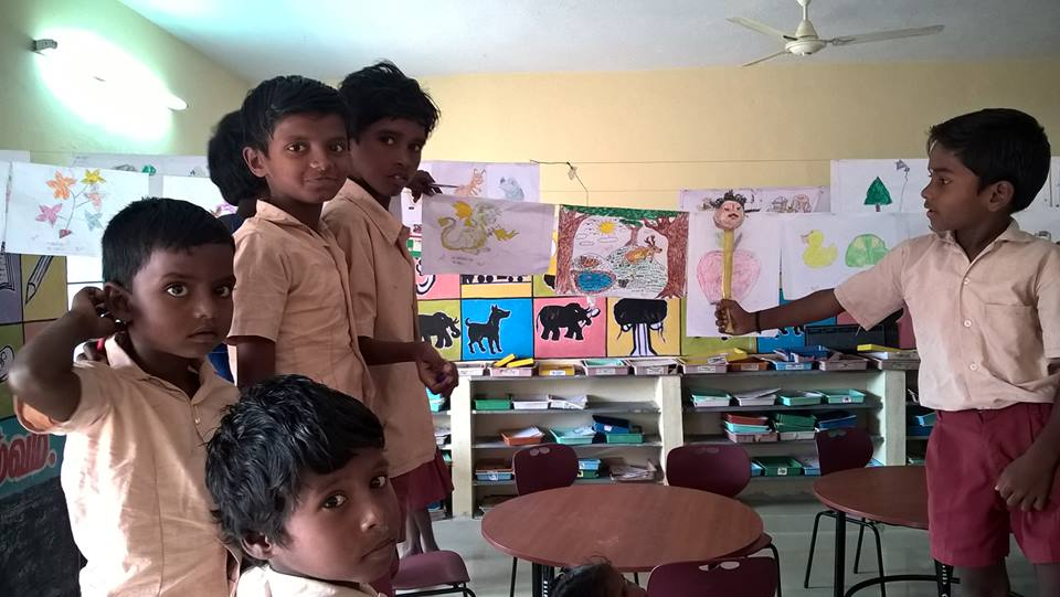 Irular children at Panjartheerthi school